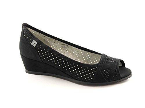 CINZIA SOFT 03554F nero scarpe donna ballerine decolletè spuntata zeppetta 41