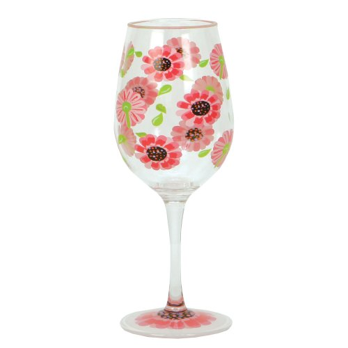 Lolita Love My Party Of Two Ooops-A-Daisy 16-Ounce Acrylic Wine Glasses, Set Of 2 front-489491
