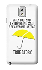 The Fappy Store True-Story plastic Back Cover For Samsung Note 3