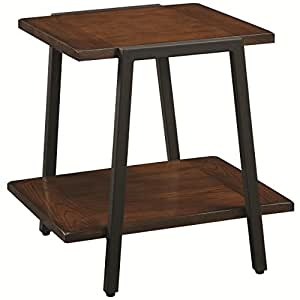 amazon com end table with shelf by coaster furniture