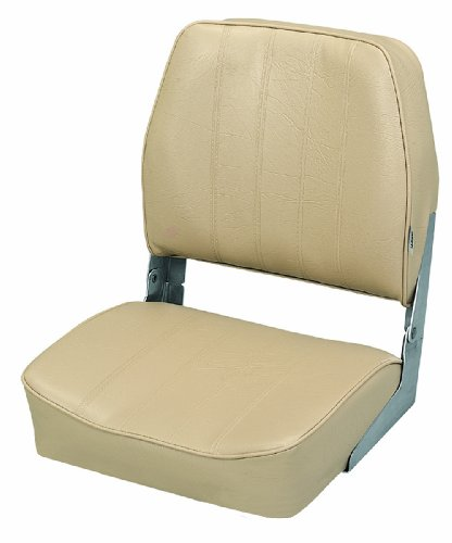 Wise Embossed Vinyl Standard Folding Boat Seat Sand