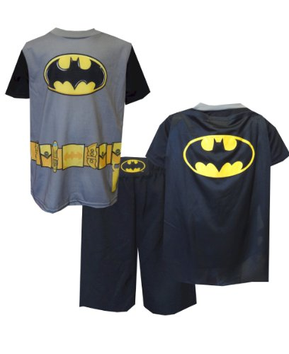 Dc Comics Batman Detachable Cape Gray And Black Pajama For Boys (8) back-705932