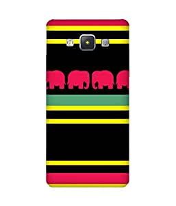 Stripes And Elephant Print (11) Samsung Galaxy A5 Case