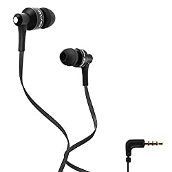 Awei ES710i Black Headphones Earphone Flat Cable 3.5mm For iphone Mobile phone MP3 MP4 (Black)
