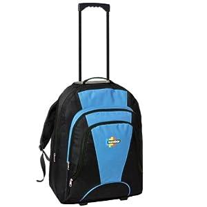 Karabar 42l Maximum Allowance Cabin Wheeled Backpack 55 X 40 X 20 Cm All Parts Included Blacksky Blue