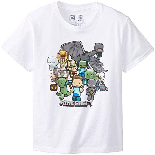 Minecraft-Camiseta-Blanco-blanco-nios-S