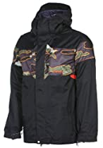 Volcom Over Ski Snowboard Jacket Black Sz L