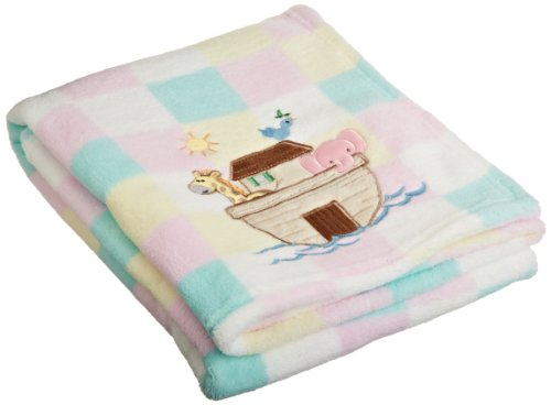 My Baby Noah's Ark Design Plush Blanket
