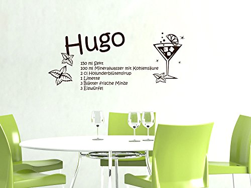 glasbild cocktail hugo prosecco und minze gr e 30 x 30 cm. Black Bedroom Furniture Sets. Home Design Ideas