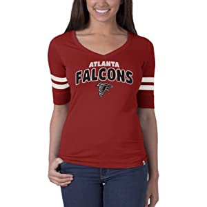 NFL Atlanta Falcons Ladies Flanker Speckle Stripe T-Shirt, Small by