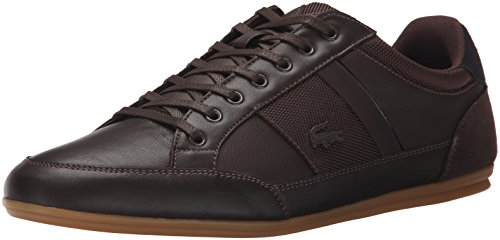 Lacoste Men's Chaymon 116 1 Spm Fashion Sneaker Fashion Sneaker, Dark Brown/black, 10.5 M US