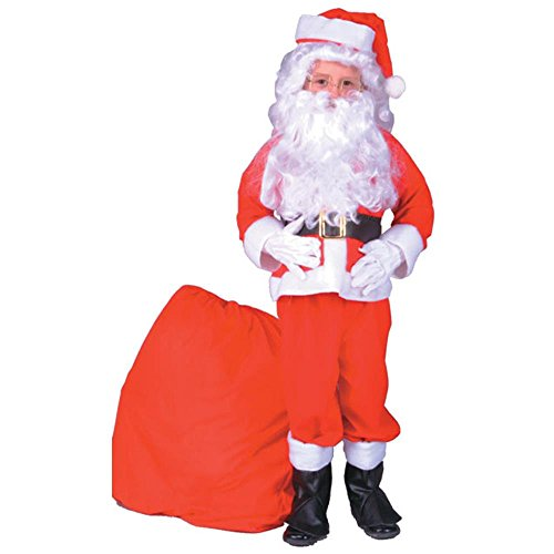 Kid's Santa Claus Christmas Costume (Size:Medium 8-10)