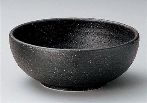 Black-Iga Jiki Japanese Porcelain Ramen-Bowl For Pasta Or Udon,Soba Or Salad Made In Japan