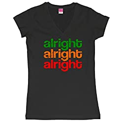 Alright Alright Alright Retro Juniors V-Neck T-Shirt