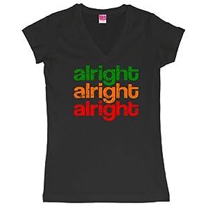 Alright Alright Alright Retro Juniors V-Neck T-Shirt