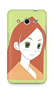 Amez designer printed 3d premium high quality back case cover for Samsung Galaxy Core 2 (Girl cute smile closeup)