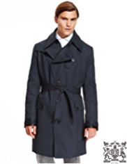 Best of British Pure Cotton Double Breasted Belted Raincoat
