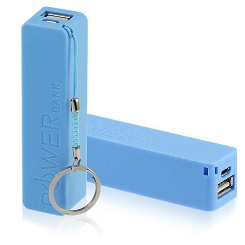 Blue Portable Usb 2600Mah Power Bank Charger External Battery For Mobile Phones Iphone Tablets My-4016