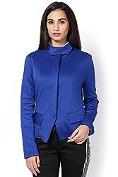 Blue Sophisticated Biker Jacket