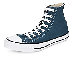 Converse Unisex Turquoise Canvas Sneakers - 9 UK