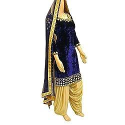 Shree Fashion Women's Velvet Unstitched Dress Materials [D59]