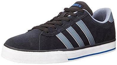 Adidas NEO SE Daily Vulcanised Fashion Sneaker, Black/Lead/Satellite, 7 D US