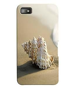 Fuson 3D Printed Shankh Designer Back Case Cover for Blackberry Z10 - D1091
