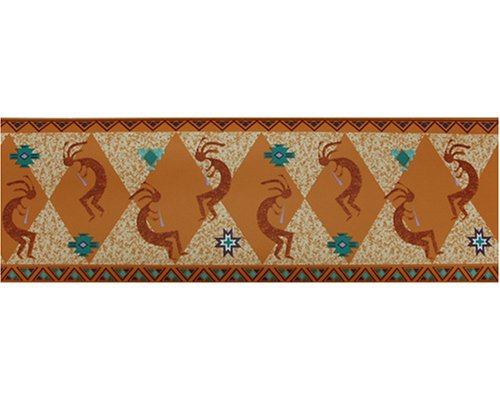 KOKOPELLI southwestern prepasted WALL PAPER BORDER wallpaper