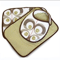 Charlie Baby Bib and Burp Gift Set by Olli & Lime