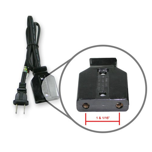 Power cord, 3', 1-1/16' spacing, fits roaster ovens.