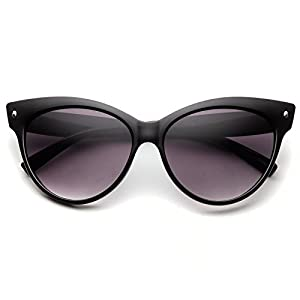 High Pointed Vintage Mod Womens Fashion Cat Eye Sunglasses (Black)