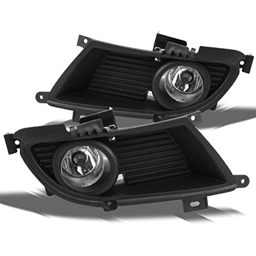 Mitsubishi Lancer Bumper Clear Driving Fog Lights Driver/Passenger Lamps w/ Switch/Bulbs/Bezel (04 Mitsubishi Light Assembly compare prices)