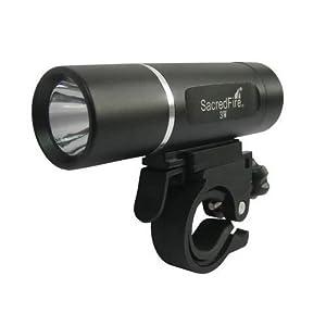 Jazooli High Power Super Bright Heavy Duty 3W 1 Led Waterproof Front Bike Light - Black