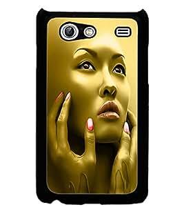 ColourCraft Face Design Back Case Cover for SAMSUNG GALAXY S ADVANCE I9070