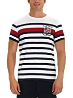 GALVANNI Camiseta Manga Corta Need (Blanco / Azul / Rojo)