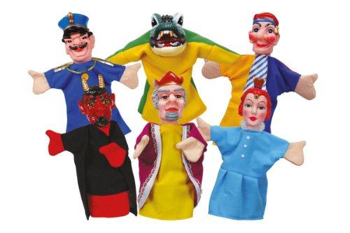 Simba 104586784 - Set de 6 marionetas de mano, 10 cm [Importado de Alemania]