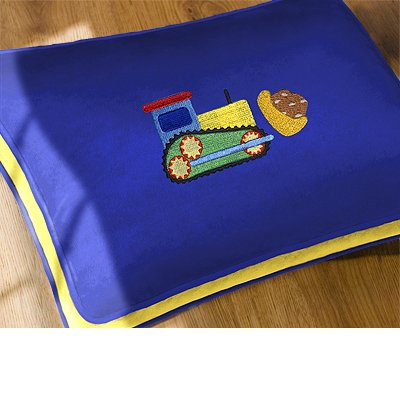 Olive Kids Under Construction Floor Pillow Shell - 1