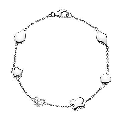 Hot Diamonds Stargazer Plated Sterling Silver Bracelet of 16-19cm