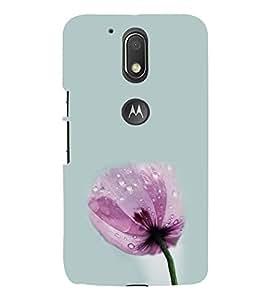 Pink Flower 3D Hard Polycarbonate Designer Back Case Cover for Motorola Moto G4 Plus :: Moto G4+