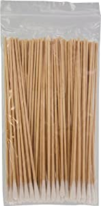 Swab - Cotton, Birch Wood, 6in., 100 Pc/bag