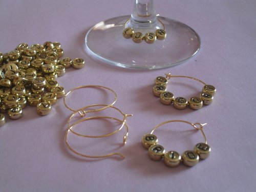 Wine Glass Charm Kit - Gold (Custom Charms compare prices)