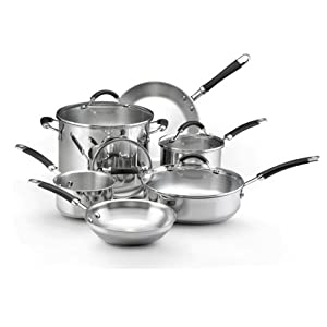 Kitchenaid stainless steel 10 piece cookware set kitchen dining - Kitchen aid pan set ...