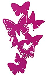 Pink Metal Butterfly Wall Hanger for Photos and Accessories, Modern Home Decor