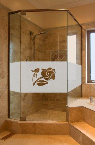 Aufkleber Glasdekor Sichtschutz GD31 ca. 50cm x 80cm Bad Badezimmer Dusche Duschtür Sichtschutzfolie