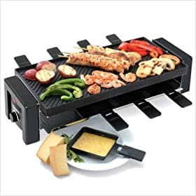 8 Person Nonstick Raclette Party Grill
