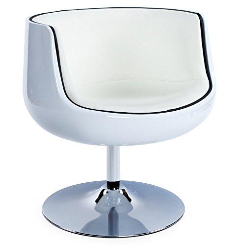 Yukon-Silla bola Design forma Sonora-Carcasa giratoria de 360°-sintética de calidad-3colores disponible en: blanco, negro o blanco/negro
