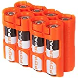 Storacell Powerpax AA Battery Caddy, Orange, 8-Pack