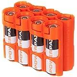 Storacell Powerpax AA Battery Caddy, Orange, 8-Pack
