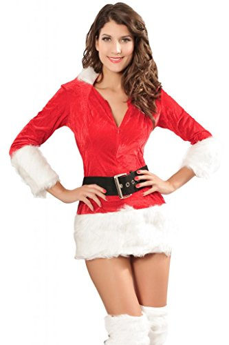 Chase Secret Women's Christmas Fur Holiday Costume