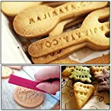 Putee® 72 Pcs Alphabet, Number, Letter Biscuit Fondant Cake/cookie Stamp Impress Embosser Cutter - Mold Set